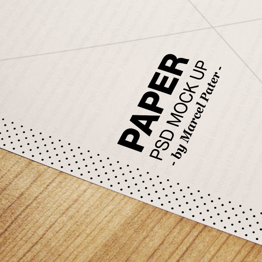 Printout Mockup | by Marcel Pater